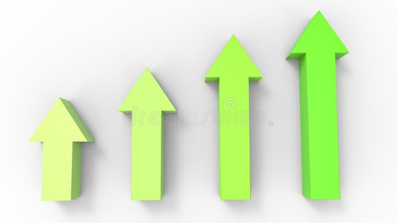 Setas verde-clara que apontam acima ilustração do vetor
