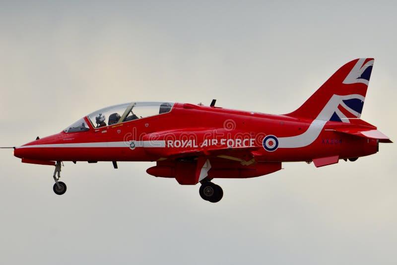 SETAS VERMELHAS Royal Air Force Aviões do FALCÃO fotos de stock royalty free