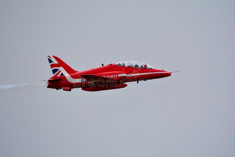 SETAS VERMELHAS Royal Air Force Aviões do FALCÃO fotografia de stock