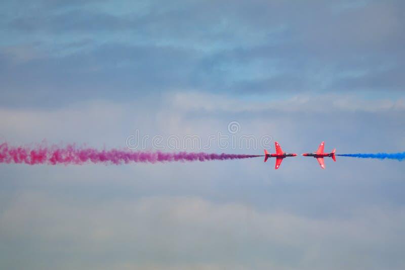 SETAS VERMELHAS Royal Air Force Colisão de aviões do falcão foto de stock