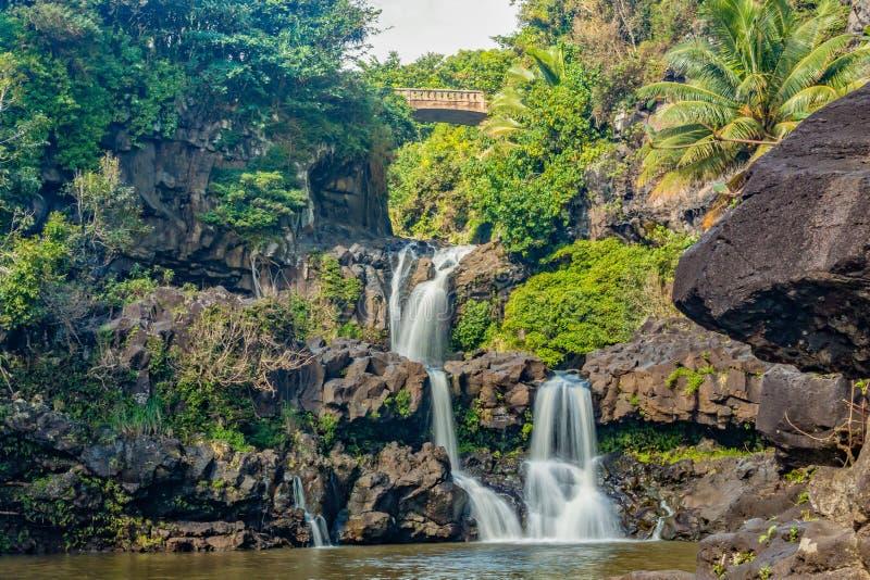 Sete associações sagrados Hana Maui imagem de stock royalty free