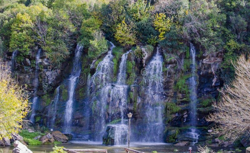 Sete cachoeiras fotografia de stock