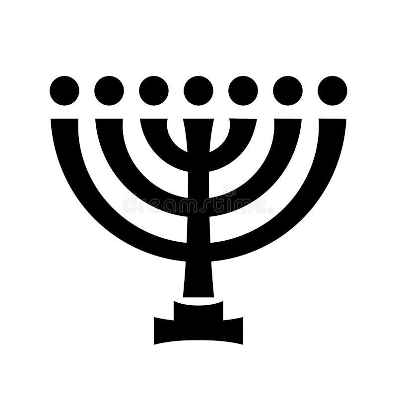 Sete-castiçal sagrado hebreu antigo de Menorah ilustração do vetor