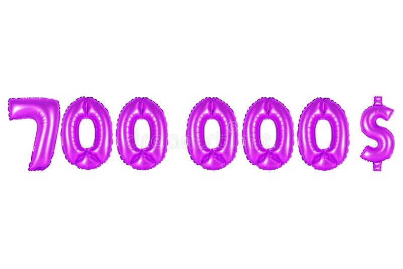 Sete cem mil dólares, cor roxa imagens de stock royalty free