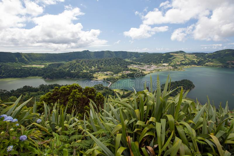 Sete Cidades on Sao Miguel stock images