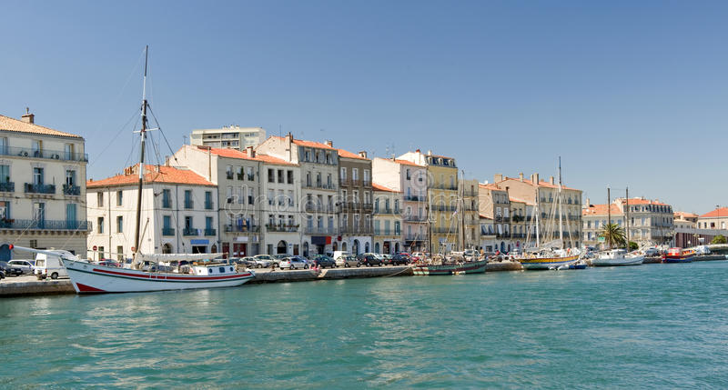Download Sete Harbor stock photo. Image of harbor, village, southern - 15886540