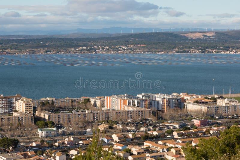 Sete - Herault - France. Vue panoramique de Sete - Herault - Occitania - France royalty free stock photo