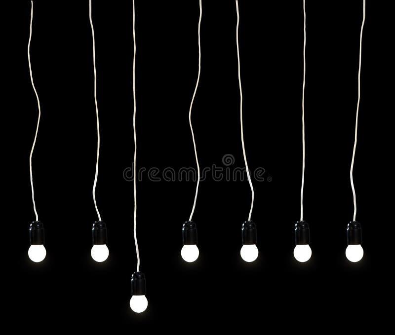 Sete lâmpadas elétricas foto de stock royalty free