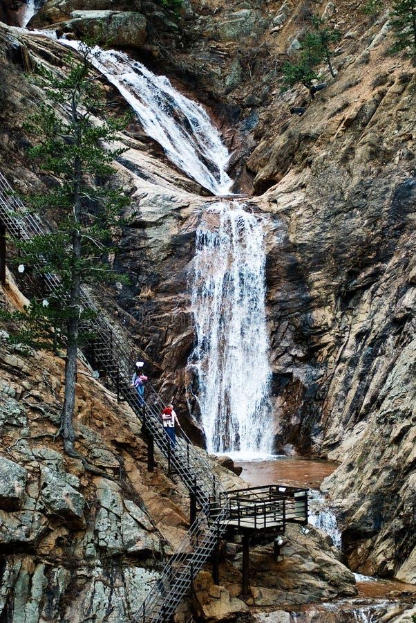 Sete quedas em Colorado Springs imagem de stock