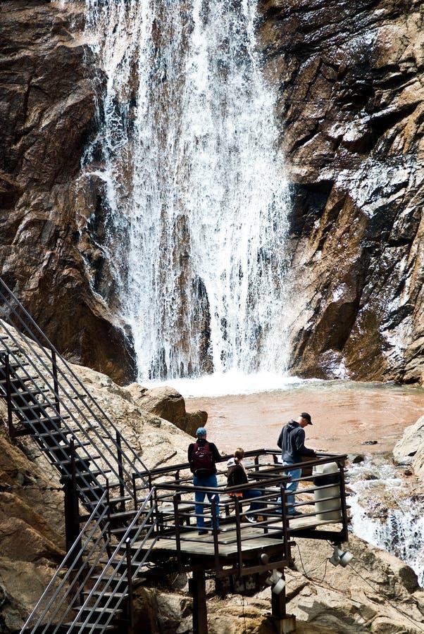 Sete quedas em Colorado Springs foto de stock