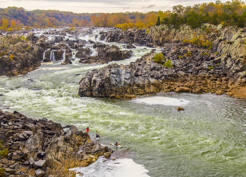 Sete quedas parque estadual, Washington DC, Virgínia, VA fotografia de stock royalty free