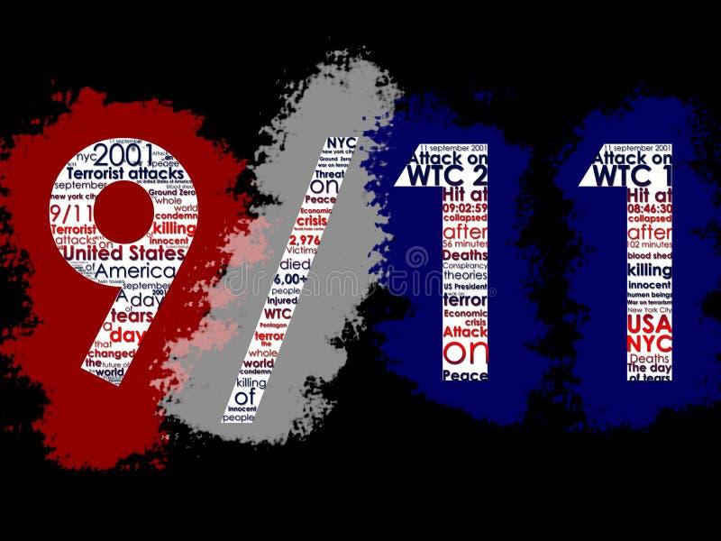 Setembro 11, 2001 ilustração royalty free