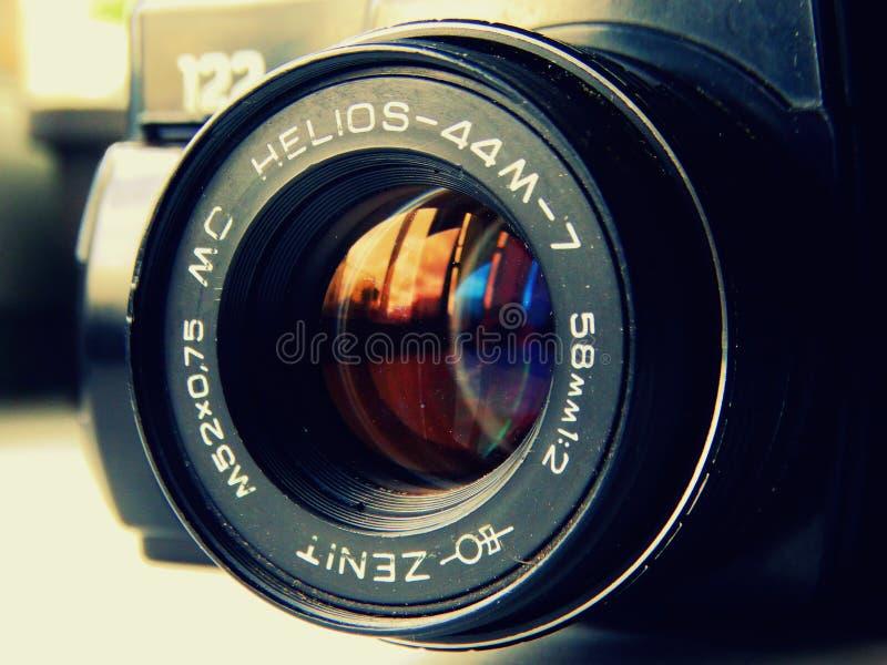 setembro, 22, 2017 Arzamas, zênite velho da câmera de Rússia imagem de stock royalty free