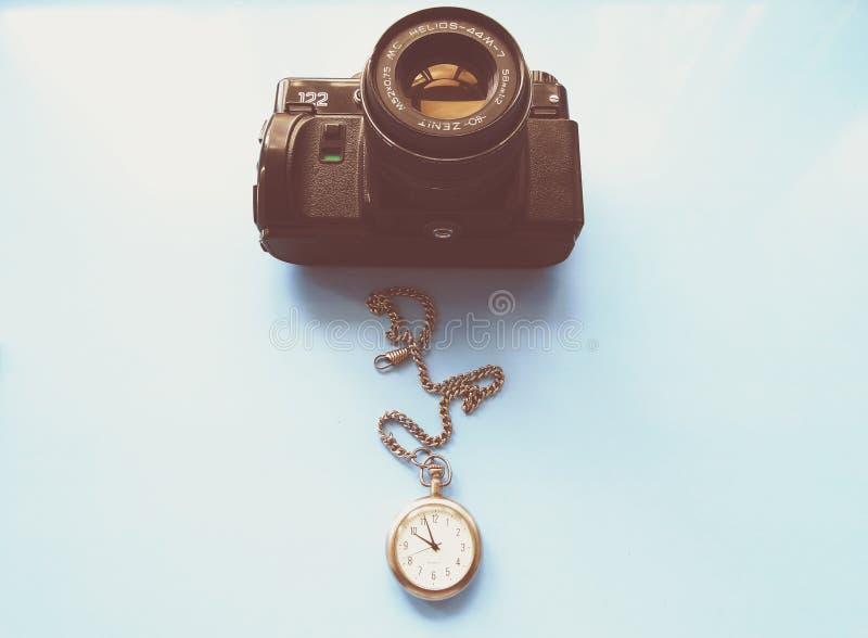 setembro, 22, 2017 Arzamas, zênite velho da câmera de Rússia fotos de stock