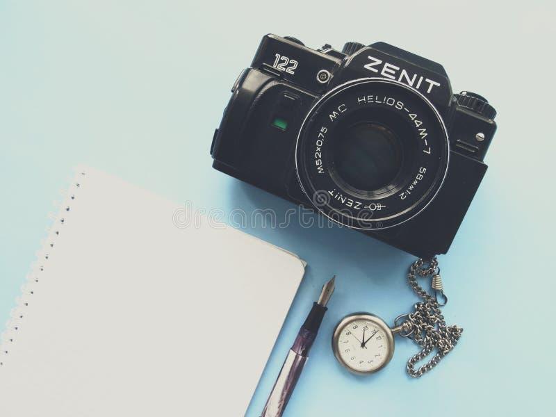 setembro, 22, 2017 Arzamas, zênite velho da câmera de Rússia imagens de stock