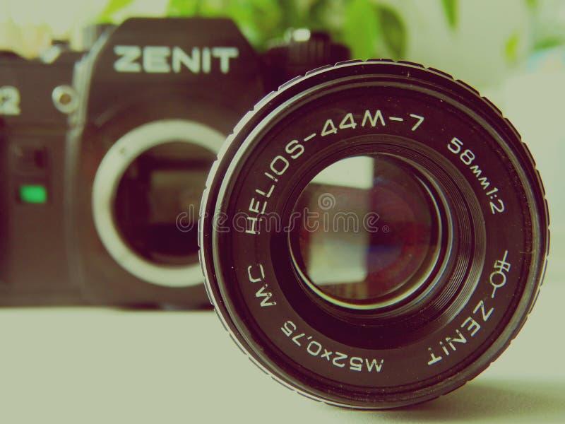 setembro, 22, 2017 Arzamas, zênite velho da câmera de Rússia imagem de stock