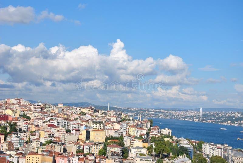 setembro em Istambul, torre de Galata foto de stock