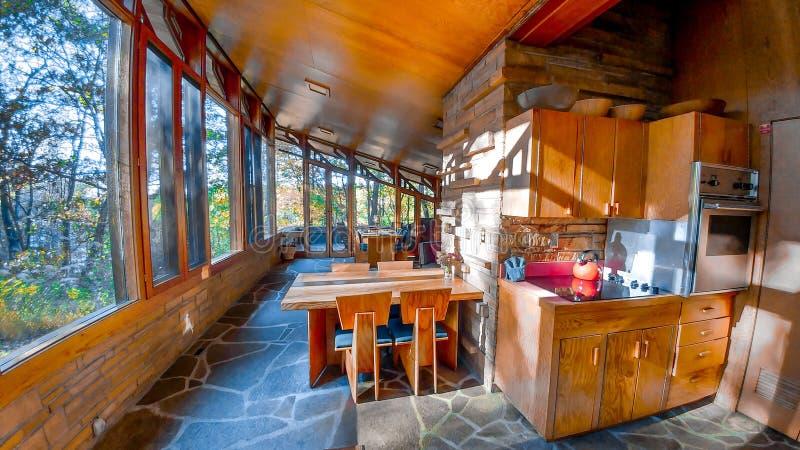 Seth Peterson Cottage en parc d'état de lac mirror photos stock