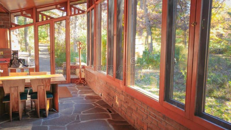 Seth Peterson Cottage en parc d'état de lac mirror image libre de droits