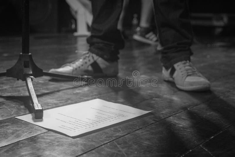 Setlist рок-группы стоковое фото