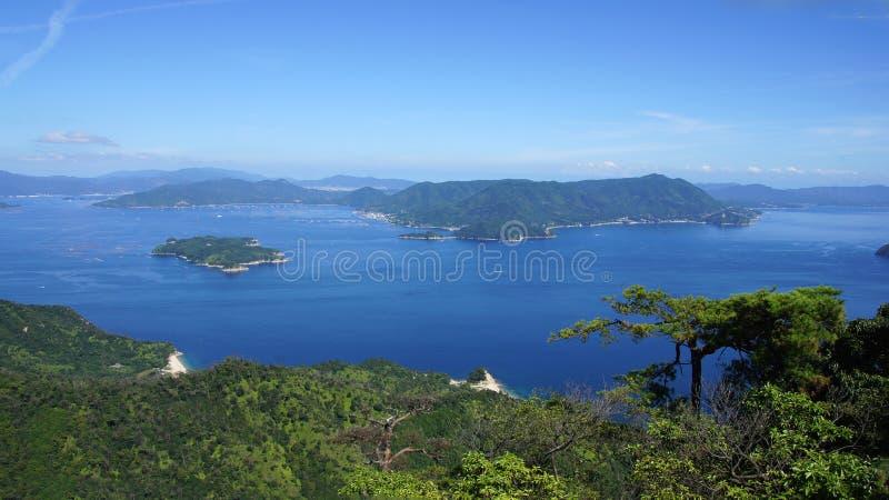 Seto Inland Sea da ilha de Miyajima fotografia de stock