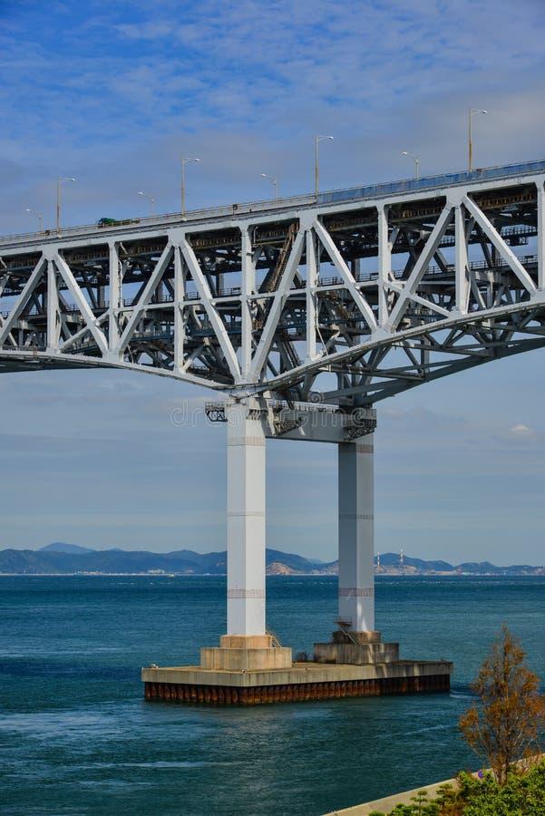 Seto Ohashi Bridge a Okayama, Giappone immagini stock libere da diritti