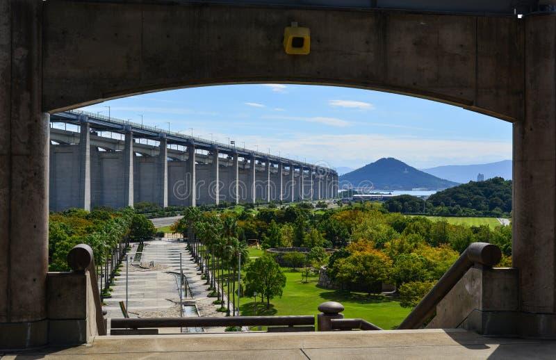 Seto Ohashi Bridge a Okayama, Giappone immagine stock