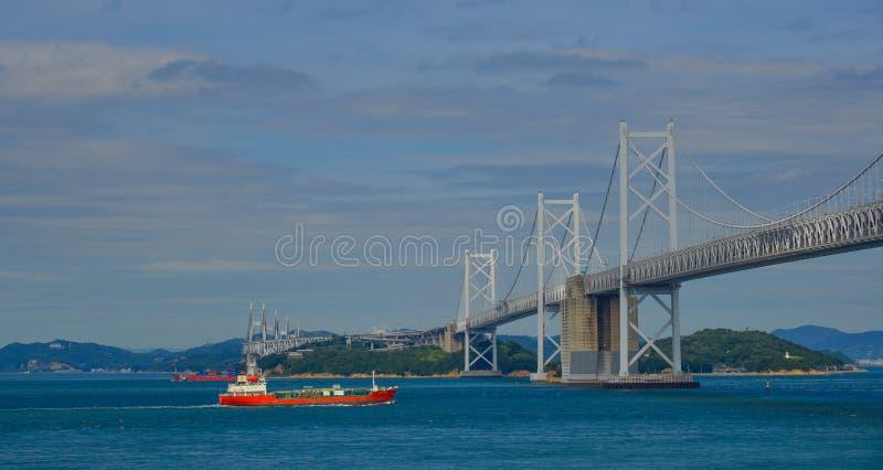 Seto Ohashi Bridge a Okayama, Giappone fotografie stock