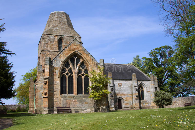 Seton Collegiate Church, Edinburgh, Scotland. Seton Collegiate Church near Prestonpans outsde Edinburgh was founded in 1242 with extensions continuing down the stock image
