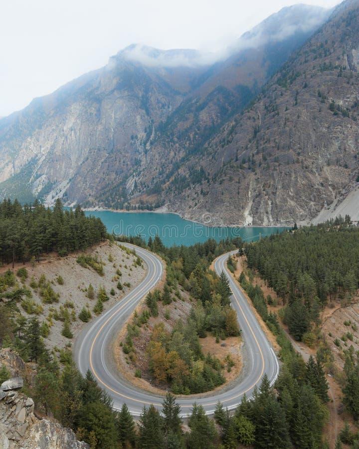 Seton jeziora punkt obserwacyjny zdjęcie royalty free