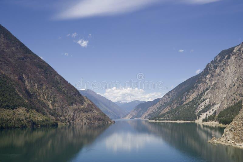 seton jeziorny panoramiczny widok fotografia stock