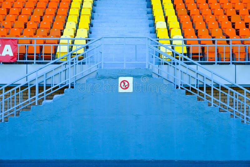 Setor no estádio dos esportes E foto de stock royalty free