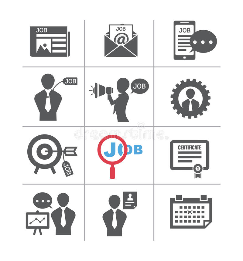 Sets of job , in the style icon vector illustration