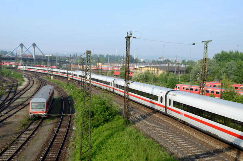 Download Sets The Passenger Train In  Terminal -  Ulm Editorial Stock Photo - Image: 28591943