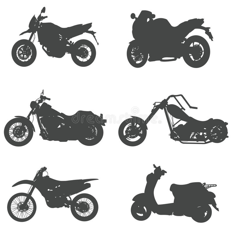 Download Sets Of Silhouette Motorcycles, Create By Vector Stock Vector - Image: 27562231