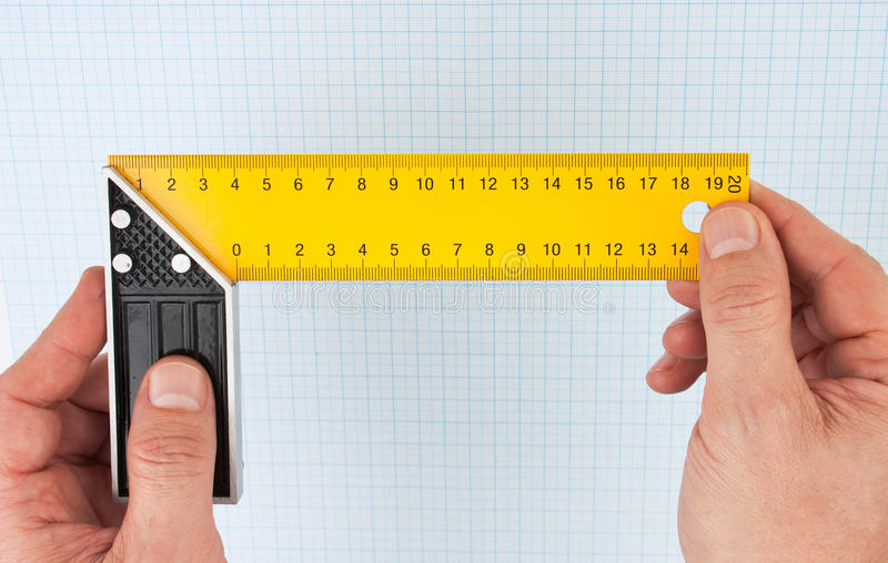 Download Setsquare In Hand Stock Image - Image: 26059721