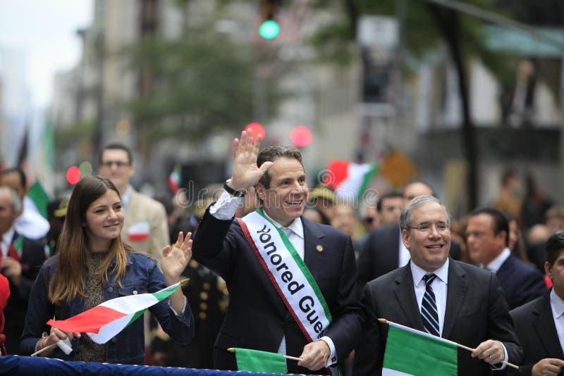 settantesimo Columbus Day Parade annuale in NYC fotografie stock libere da diritti