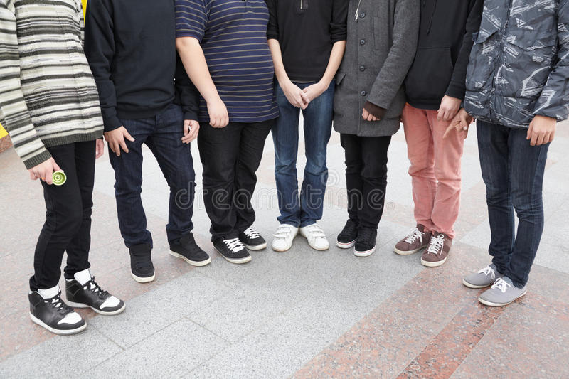 Sette Anni Dell Adolescenza Che Rimangono Insieme. Fotografie Stock Libere da Diritti