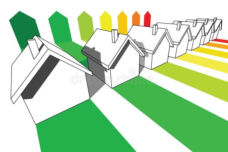 Sette case illustrazione vettoriale