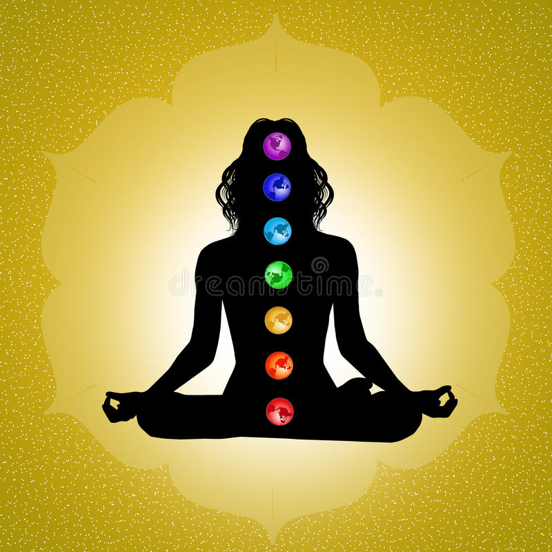 Sette chakras illustrazione vettoriale