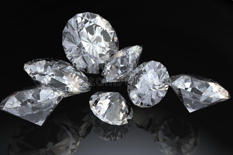 Sette diamanti illustrazione vettoriale