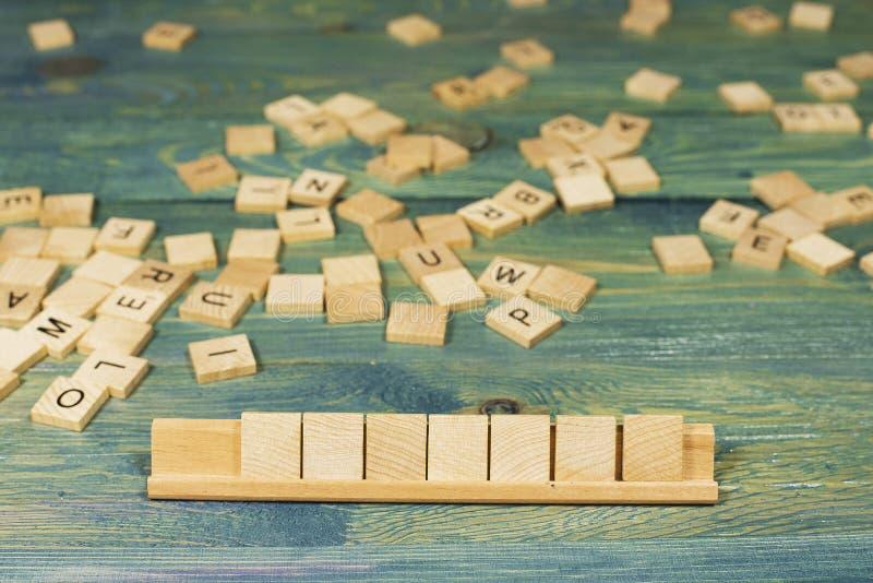 Sette mattonelle di legno in bianco fotografie stock