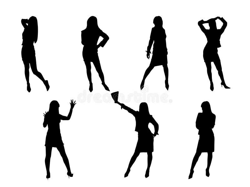 Sette ragazze illustrazione vettoriale
