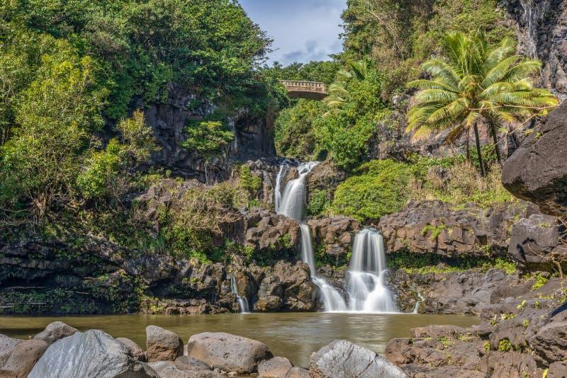Sette stagni sacri Hana Maui Hawaii fotografia stock libera da diritti