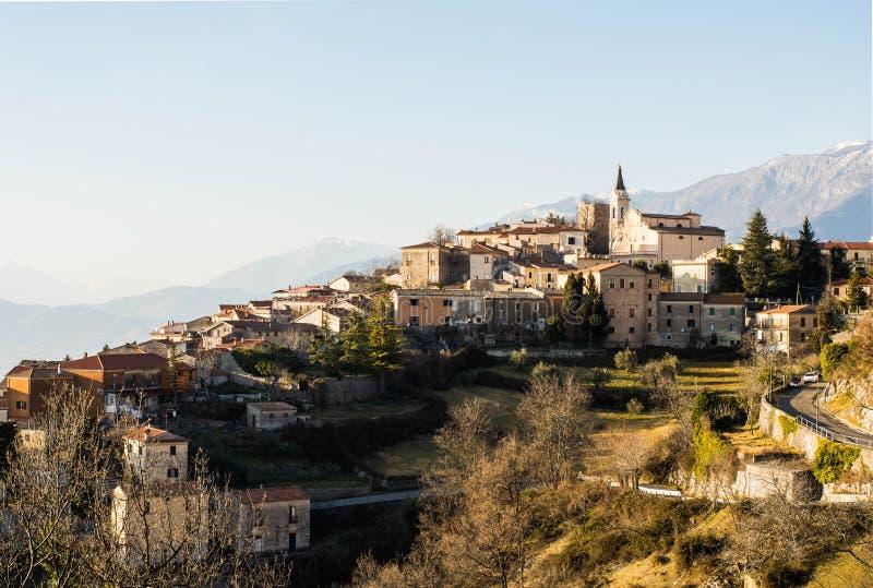 Settefrati-Sonnenuntergang, Ciociaria, Valle di Comino, Frosinone stockbild