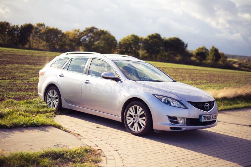 Settembre 2018, Ustka, Polonia: Proprietà di Mazda 6 - 2008 modello, GH immagine stock