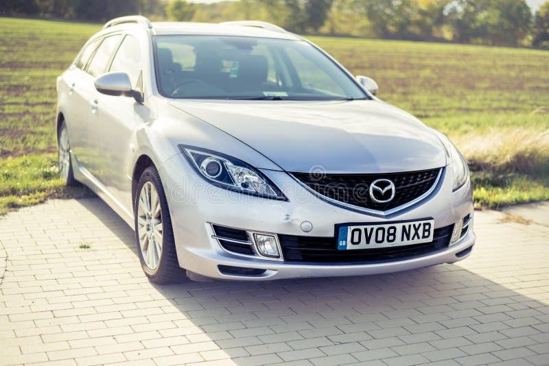 Settembre 2018, Ustka, Polonia: Proprietà di Mazda 6 - 2008 modello, GH fotografia stock libera da diritti