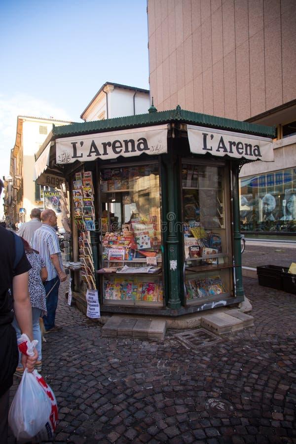 7 settembre 2018 Verona, Italia Belle vecchie vie a Verona, Italia fotografie stock