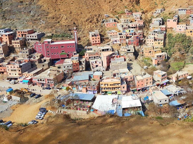 Setti Fatma - village dans des moutains Maroc d'atlas photo libre de droits