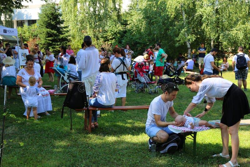 Settimana mondiale di allattamento al seno fotografia stock libera da diritti